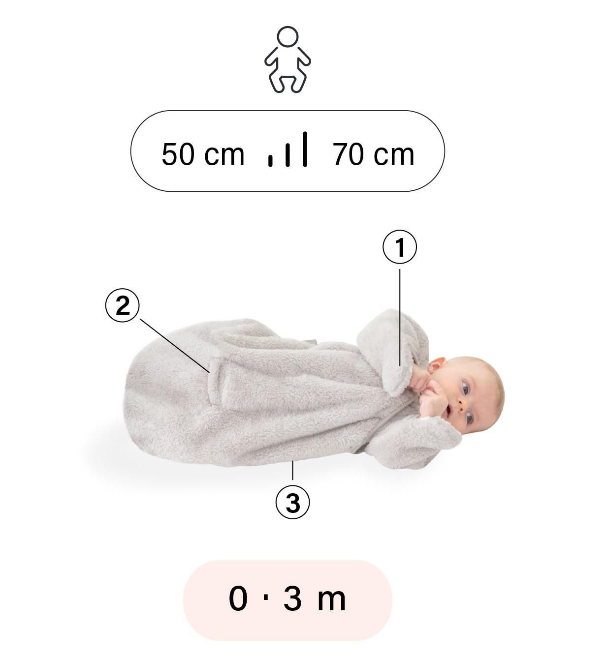 Bemini slaapzak 0-3 maanden