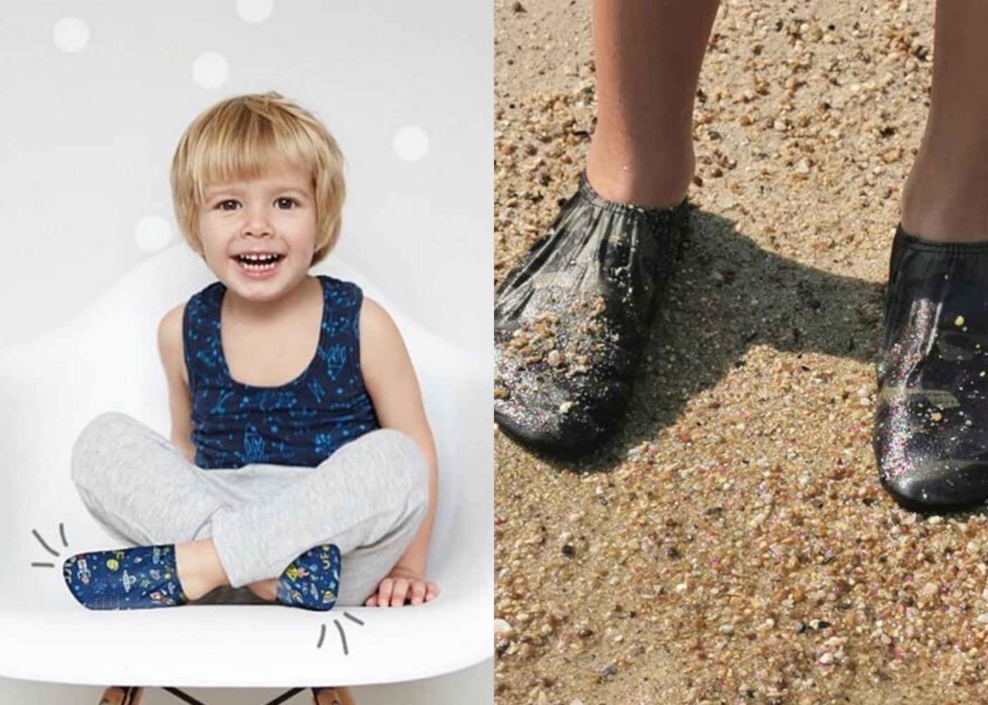 Slipstop waterschoen beschermt tegen heet zand